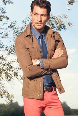 Massimo Dutti primavera 2013 lookbook hombre chaqueta sahariana y pantalón tejano