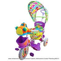 Sepeda Roda Tiga Royal RY3082CJ UFO Dobel Musik Jok Kain
