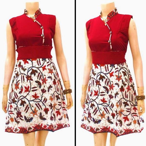 Model baju Batik Dress Terbaru 2015