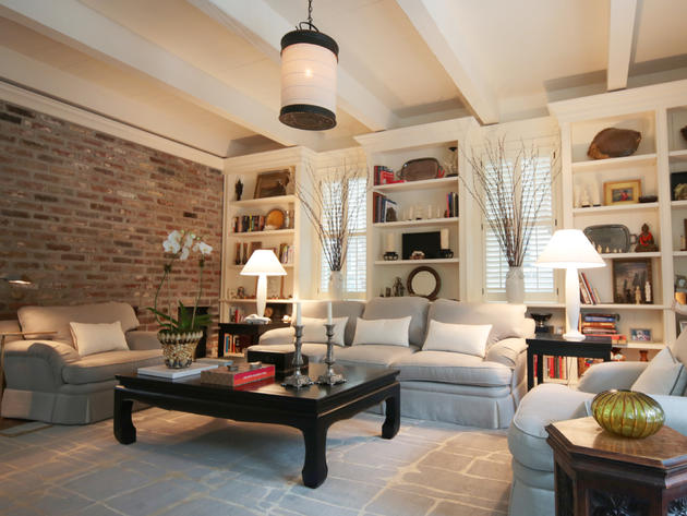 Living Room Design With Brick Wall Part 35