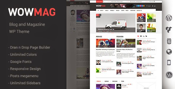 responsive news webstie template