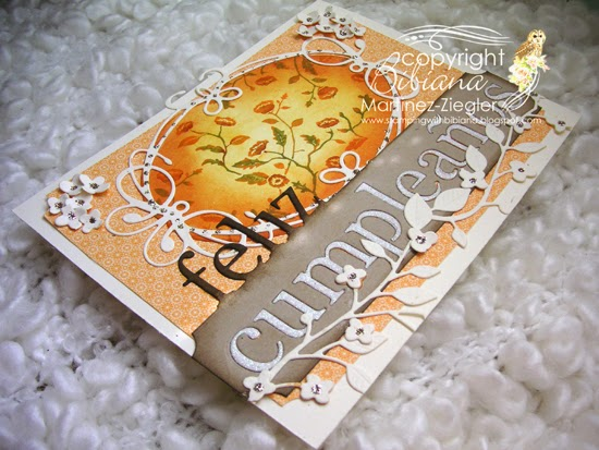 fall happy birthday card side view