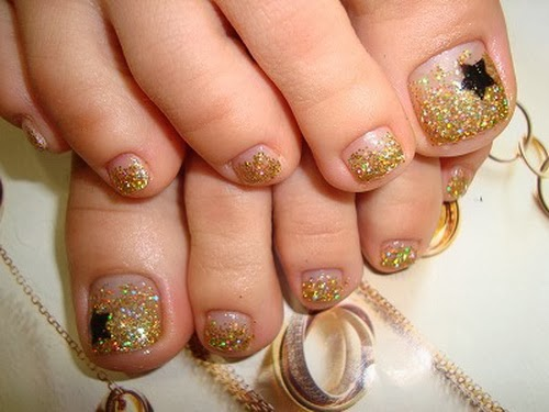 Toe nail designs with gold : Brilliant crazy nail art designs ideas