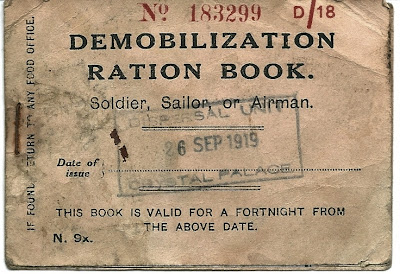 Demobilization Ration Book