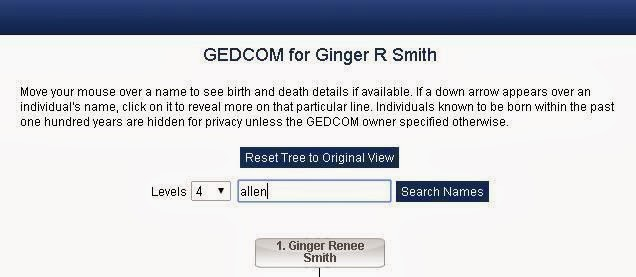 Gedcom Search Box - Allen