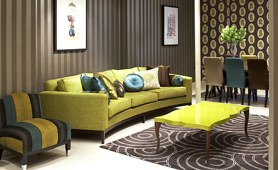 Green Living Room Interior Design Ideas