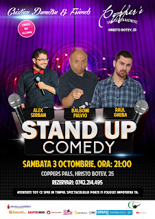 Stand-Up Comedy Sambata 3 Octombrie Bucuresti@Copper's Pub
