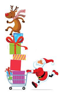 Jual Baju Lucu, Santa Claus Shopping Bags