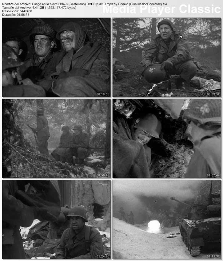 Secuencias de la película:  Fuego en la nieve | 1949 | Battleground