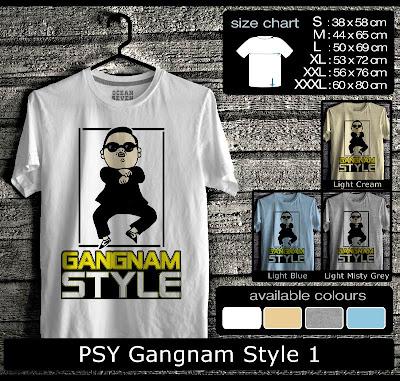 kaos distro gangnam style 1