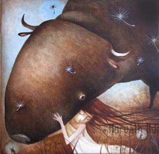 Europa elrablása, bika szerelem, óriás állat, törékeny nő