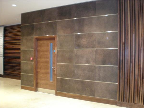 Leather Wall Paneling : Revestimento de parede em couro nobuk emporio dirani