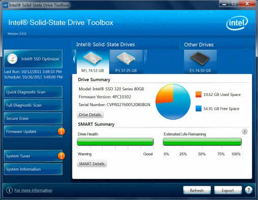 Controla el estado de discos Intel SSD con Windows 8