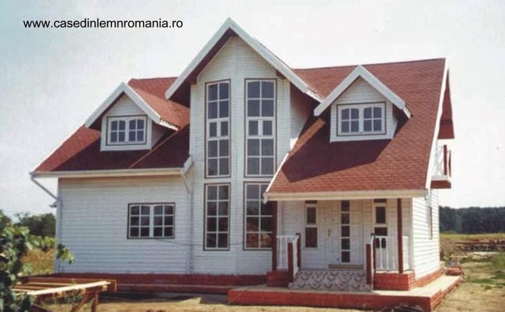 Casa de madera producida en Rumania ofrecida en España