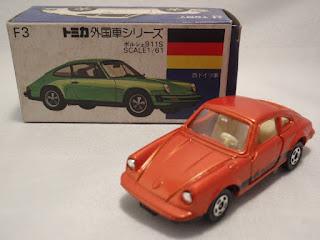 TOMY TOMICA Blue Box F3 Porsche 911S Orange Rare Color Japan 1Day Tracking No.