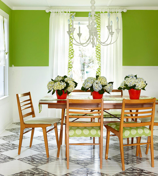 Bright and colorful dining room ideas modern diy art for Bright dining room ideas