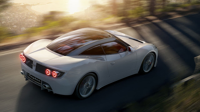 Spyker B6 Venator concept rear side white