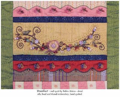 Robin Atkins, beaded quilt, Beadlust, detail