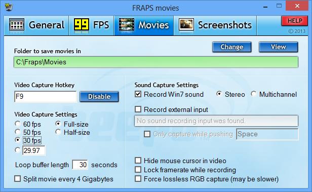 Fraps Full Version Screen