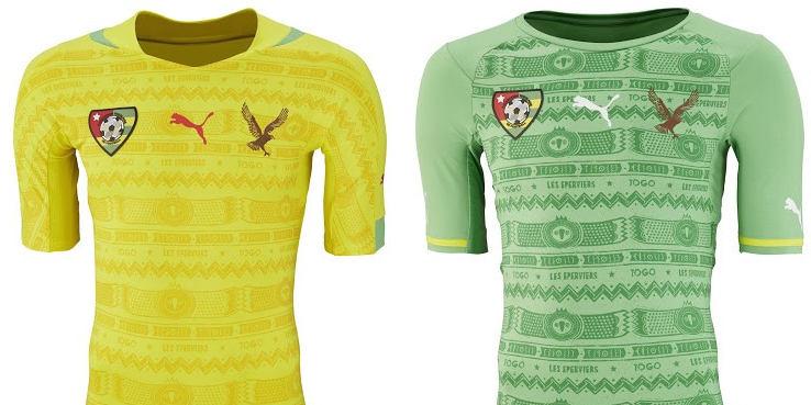 Nuevas camisetas Puma de la Selección de Togo