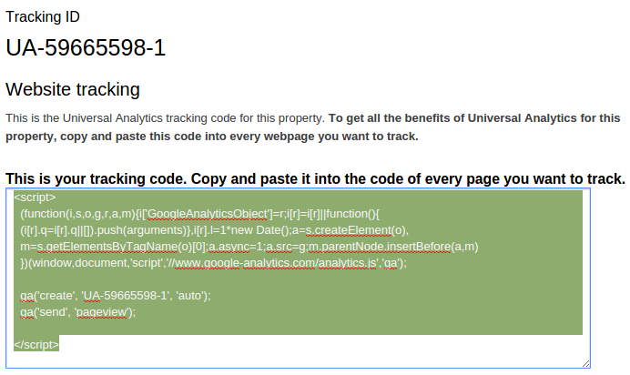script kode tracking google analytics