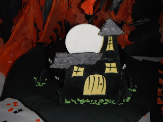 Tartafondant hallooween casa brujas