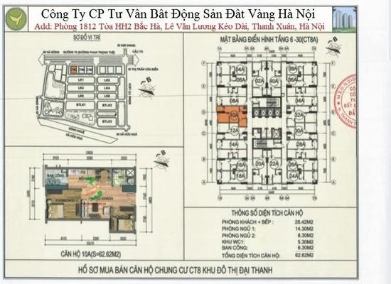 Chung cư Đại Thanh CT8 62,62m2