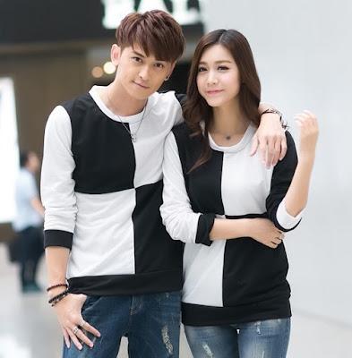 Baju Couple Tangan Panjang Catur