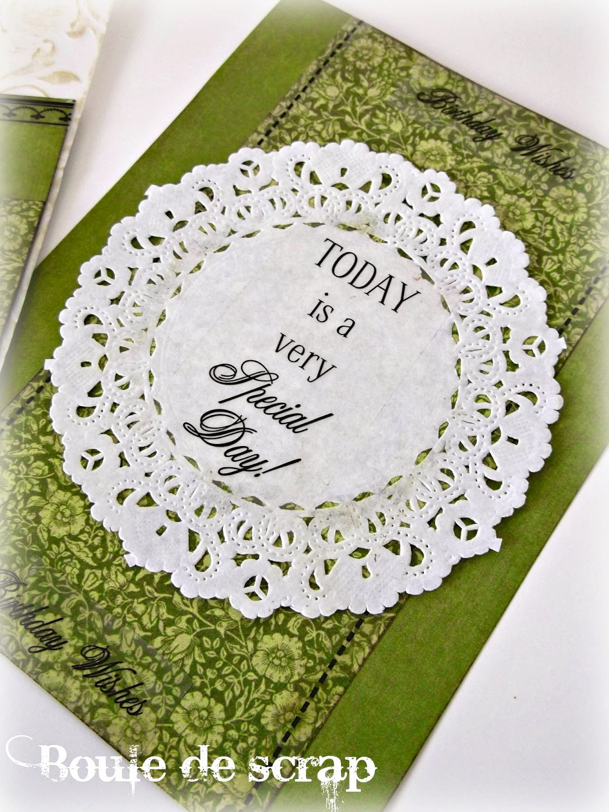 SRM Stickers Blog - Doily Cards by Angélique - #card #birthday #stickers #glassine bags #embossed