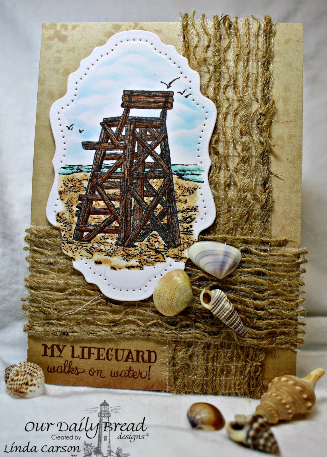 Our Daily Bread Designs, My Lifeguard, Vintage Flourish Pattern die, designer Linda Carson
