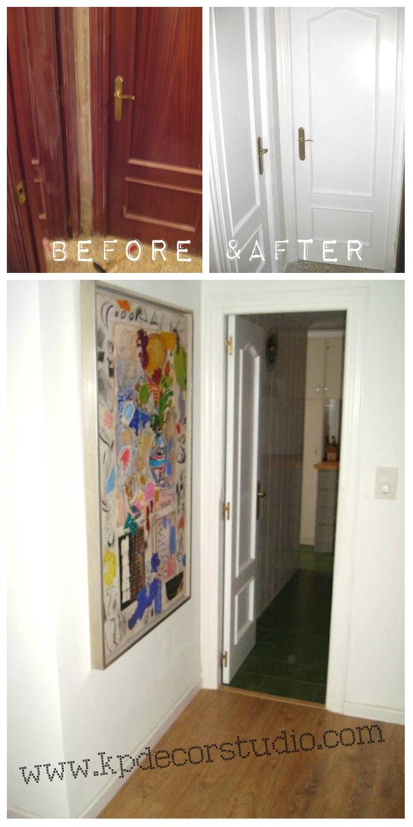 Kp decor studio c mo lacar las puertas de tu casa how - Pintar puertas de blanco en casa ...