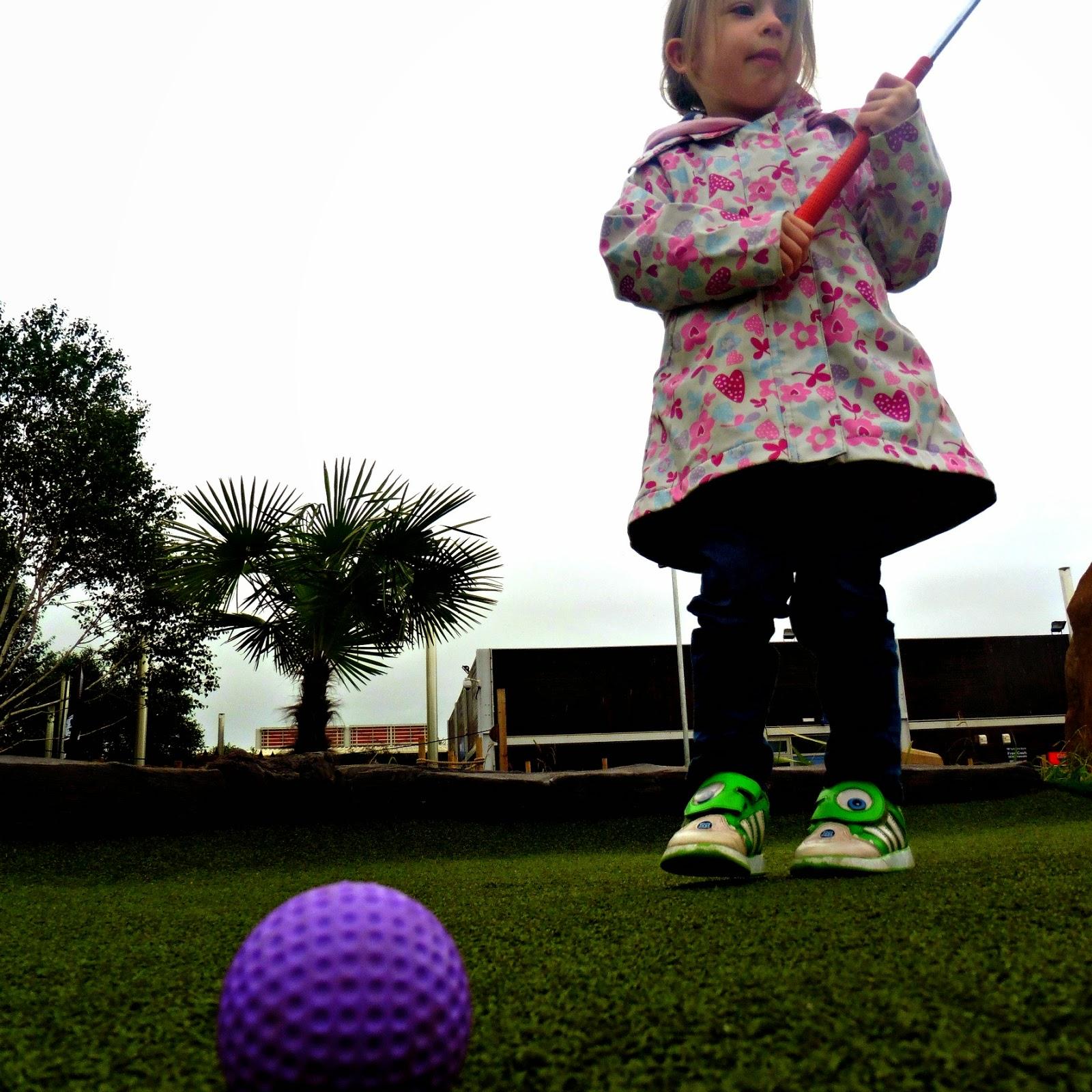 eldest playing golf