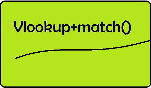 vlookup match formula in excel