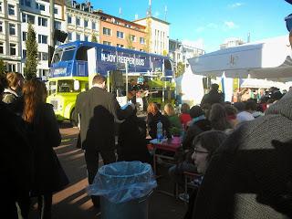 N-Joy Reeper Bus in Spielbude Platz, Hamburg as part of the Reeperbahn Festival