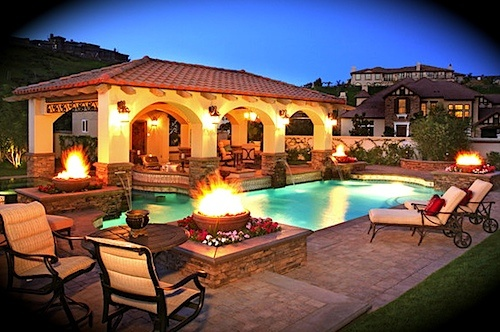 Backyard landscape design ideas leovan design for Pool in front yard ideas