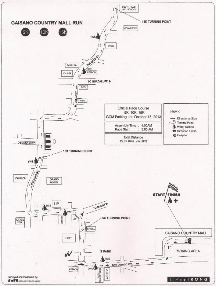 Gaisano-Country-Mall-20th-Anniversary-Run-Route-Map