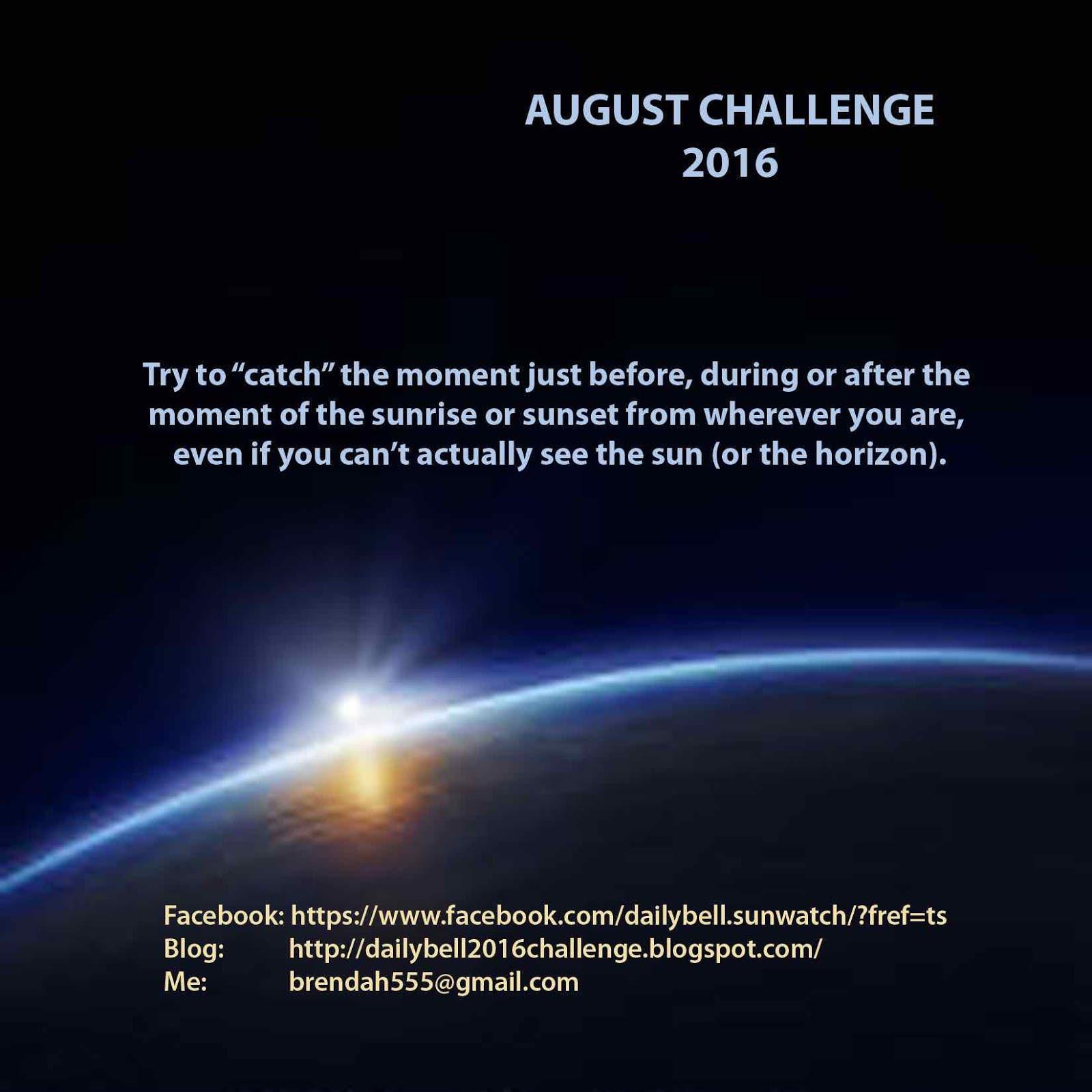 AUGUST Challenge 2016