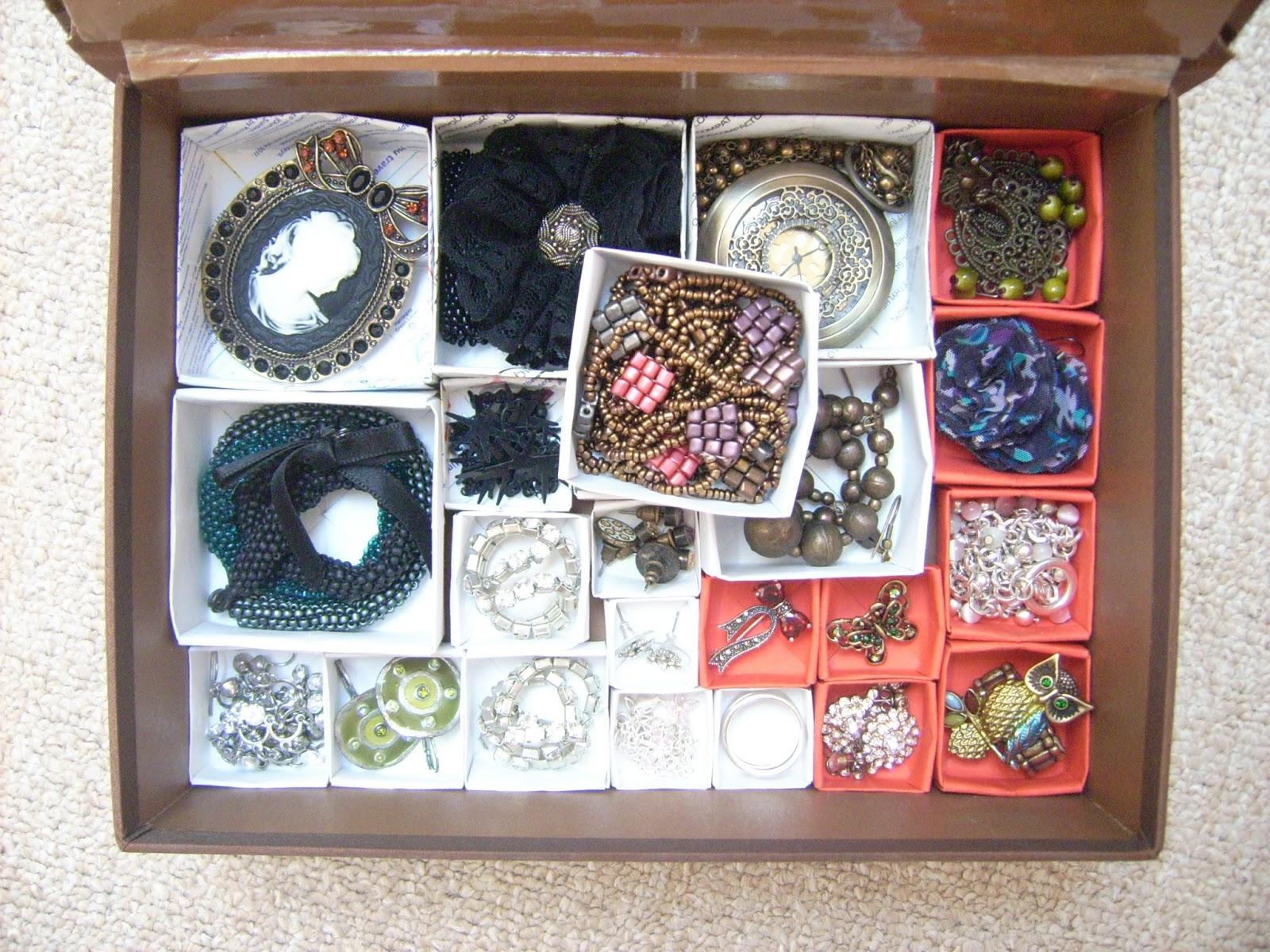 jewellery organizer origami