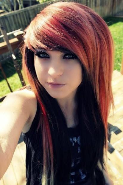 cute stylish emo hairstyles