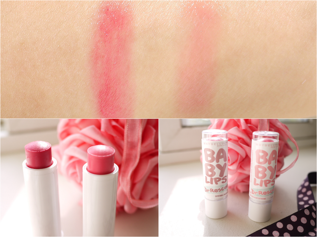 Maybelline Baby Lips Dr Rescue - Berry Soft, Pink Me Up swatch review