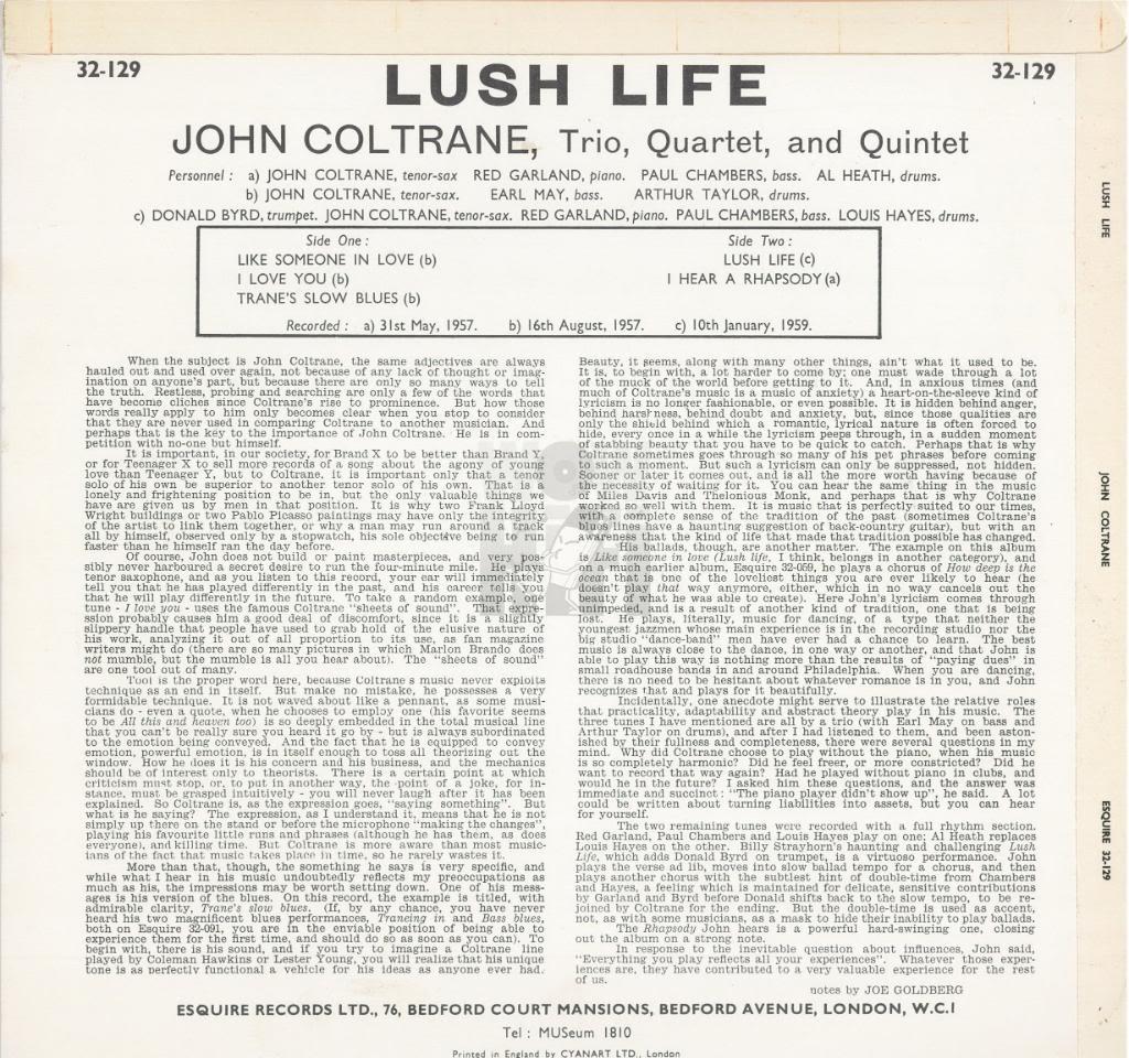 Swingville john coltrane lush life 1958 canciones stopboris Image collections