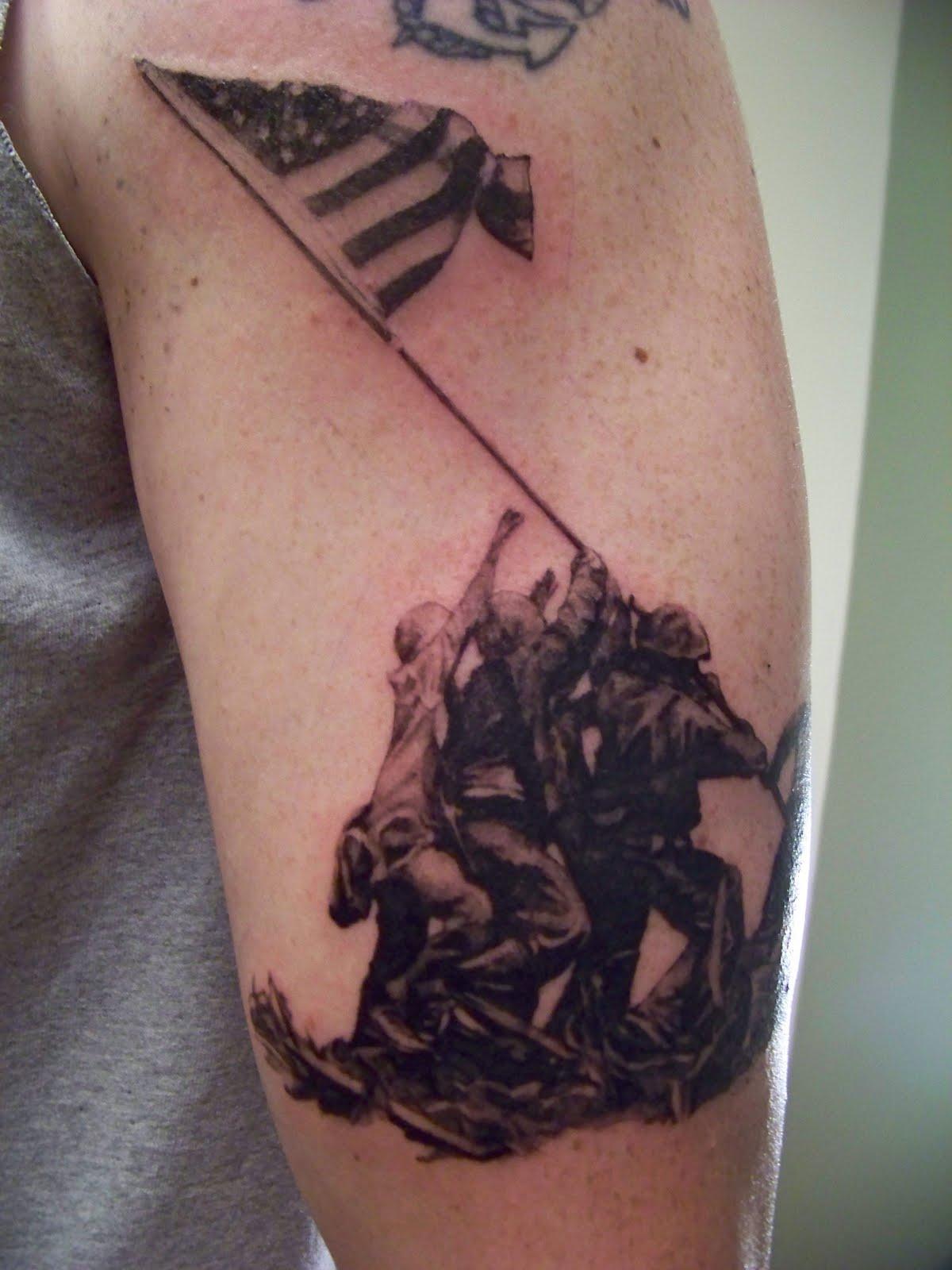 Lionhearts tattoos for Iwo jima tattoo