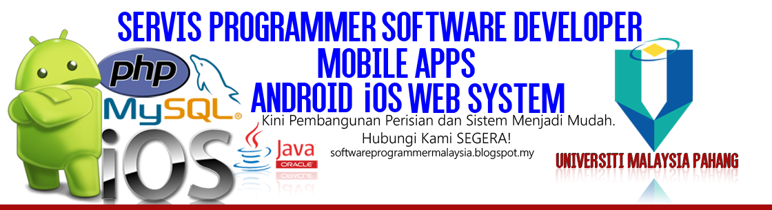 Programmer, Servis Develop Software, System and Mobile Application