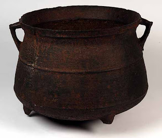 A cauldron made in 15th century England.