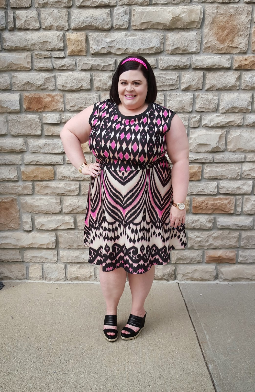 TheStyleSupreme: Plus Size OOTD: Taylor Scuba Fit & Flare Dress in ...