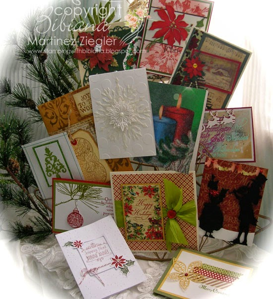 christmas cards made by friend blogger