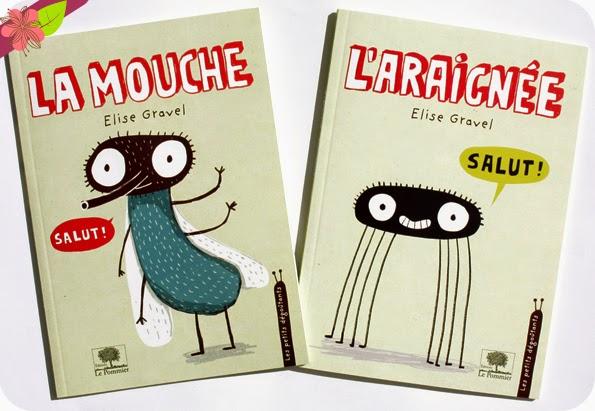 La mouche et L'araignée d'Elise Gravel - éditions Le Pommier