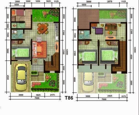 denah rumah minimalis 3
