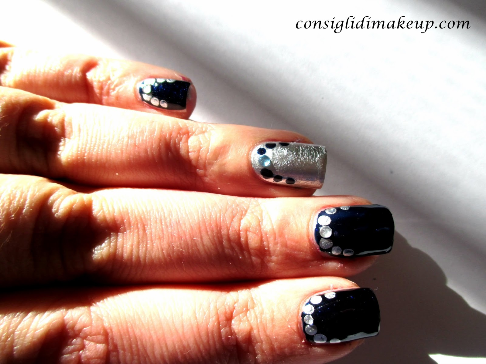 nail art facile san silvestro