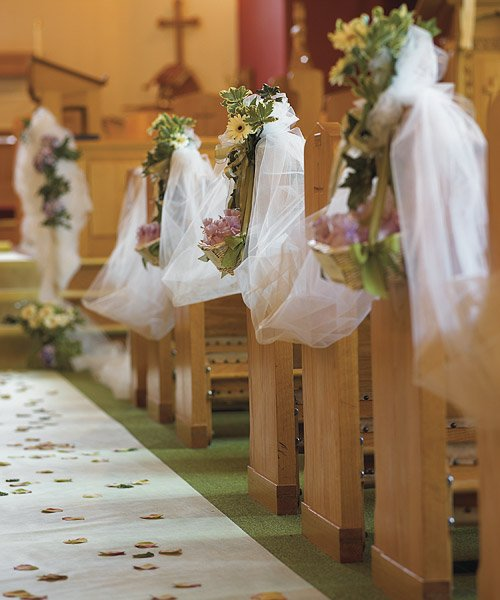 Church wedding decorations for Aisle decoration